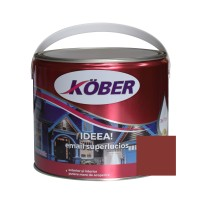 Vopsea alchidica pentru lemn / metal, Kober Ideea, interior / exterior, maro roscat, 2.5 L