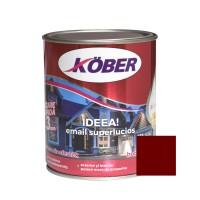 Vopsea alchidica pentru lemn / metal, Kober Ideea, interior / exterior, rosu vin, 0.75 L