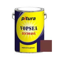 Vopsea alchidica pentru lemn / metal, Pitura, interior / exterior, maro inchis 53771, 4 L