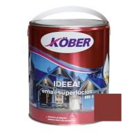 Vopsea alchidica pentru lemn / metal, Kober Ideea, interior / exterior, maro roscat, 4 L