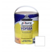 Vopsea alchidica pentru lemn / metal, Pitura, interior / exterior, alb polar V53101, 4 L