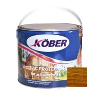 Lac / lazura subtire 2 in 1 pentru lemn, Kober, nuc, interior / exterior, 2.5 L