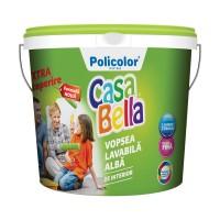 Vopsea lavabila interior, Casabella, alba, 2.5 L