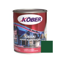 Vopsea alchidica pentru lemn / metal, Kober Ideea, interior / exterior, verde mediu E51550, 0.75 L