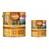 Lac / lazura pentru lemn, Sadolin Extra, stejar rustic, interior / exterior, 2.5 L + 0.75 L