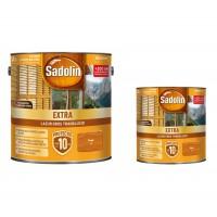 Lac / lazura pentru lemn, Sadolin Extra, tec, interior / exterior, 2.5 L + 0.75 L