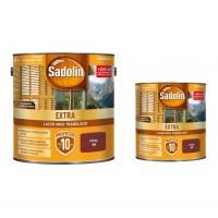 Lac / lazura pentru lemn, Sadolin Extra, cires, interior / exterior, 2.5 L + 0.75 L