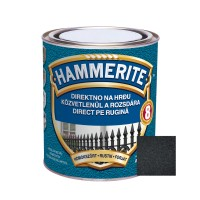 Vopsea alchidica pentru metal Hammerite - efect fier forjat, interior / exterior, neagra, 2.5 L