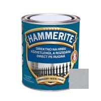 Vopsea alchidica pentru metal Hammerite - efect fier forjat, interior / exterior, argintiu / aluminiu, 0.75 L