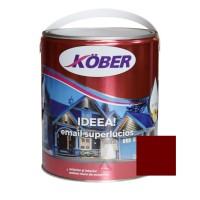 Vopsea alchidica pentru lemn / metal, Kober Ideea, interior / exterior, rosu vin, 4 L