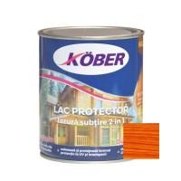 Lac / lazura subtire 2 in 1 pentru lemn, Kober, cires, interior / exterior, 0.75 L
