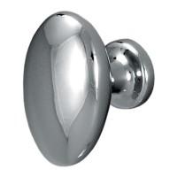 Buton pentru mobila, metalic, crom lucios, 35 x 23 x 27 mm