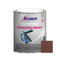 Vopsea alchidica pentru metal Kober Hammer, efect lovitura de ciocan, interior / exterior, cupru / orange cupru E81305, 0.75 L