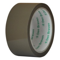 Banda adeziva pentru ambalare Den Braven, maro, 60 m x 46 mm
