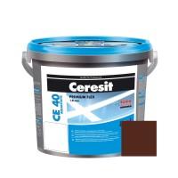 Chit de rosturi gresie si faianta Ceresit CE 40, maro, chocolate 58, interior / exterior, 5 kg
