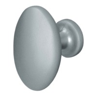 Buton pentru mobila, metalic, crom satinat, 35 x 23 x 27 mm