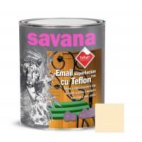 Vopsea alchidica pentru lemn / metal, Savana cu teflon, interior / exterior, crem, 0.75 L