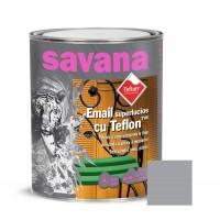 Vopsea alchidica pentru lemn / metal, Savana cu teflon, interior / exterior, gri, 0.75 L
