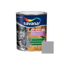 Vopsea alchidica pentru lemn / metal, Savana Ultrarezist cu teflon, interior / exterior, gri, 0.75 L