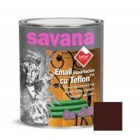 Vopsea alchidica pentru lemn / metal, Savana cu teflon, interior / exterior, brun, 0.75 L