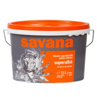 Vopsea superlavabila interior, Savana, alba, 2.5 L