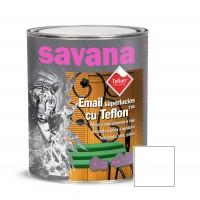 Vopsea alchidica pentru lemn / metal, Savana cu teflon, interior / exterior, alb polar, 0.75 L