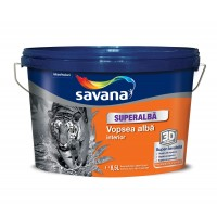 Vopsea superlavabila interior, Savana, alba, 8.5 L