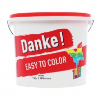 Vopsea lavabila interior, Danke Easy to color, alba, 15 L