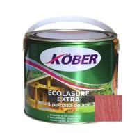 Lac / lazura 3 in 1 pentru lemn, Kober Ecolasure Extra, trandafir, pe baza de apa, interior / exterior, 2.5 L