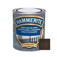 Vopsea alchidica pentru metal Hammerite - lovitura de ciocan, interior / exterior, maro, 0.75 L