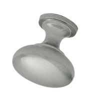 Buton pentru mobila, metalic, nichel mat, 28 x 28 mm
