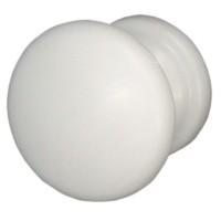 Buton pentru mobila, metalic, alb, 32 x 27 mm