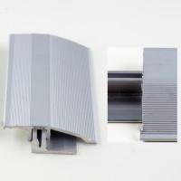 Profil aluminiu de trecere, diferenta de nivel, Davo Pro argintiu, 44 mm, 2.7 m