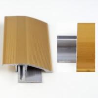 Profil aluminiu de trecere, diferenta de nivel, Davo Pro auriu, 44 mm, 2.7 m