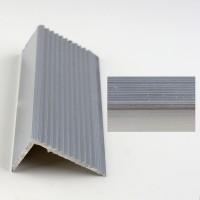 Profil aluminiu pentru treapta, 2394 argintiu, 1 m