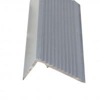Profil aluminiu pentru treapta, 2394 argintiu, 3 m