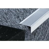Profil aluminiu pentru treapta, 2394 negru, 1 m