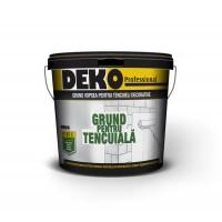 Grund vopsea pentru tencuieli decorative, Deko G8300, interior / exterior, alb, 10 L