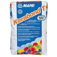 Adeziv gresie si faianta Mapei Kerabond T, alb, pentru interior / exterior, 25 kg