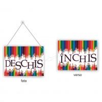 Indicator informare Inchis/ Deschis, PVC, 20 x 15 cm