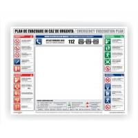 Plan de evacuare situatii de urgenta Creative sign, pvc, forma dreptunghiulara, 40 x 30 cm
