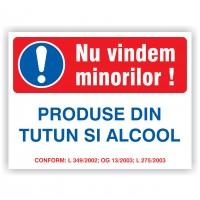 Indicator semnalizare nu vindem minorilor alcool si tutun Creative sign, pvc, forma dreptunghiulara, 20 x 15 cm