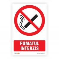 Indicator semnalizare Fumatul interzis, PVC, 30 x 20 cm
