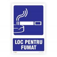 Indicator semnalizare Loc pentru fumat, PVC, 30 x 20 cm