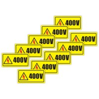 Indicator semnalizare Priza avertizare 400 V,  PVC, 10 x 5 cm, set 10 bucati