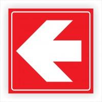 Indicator semnalizare Directii de urmat, PVC, 15 x 15 cm