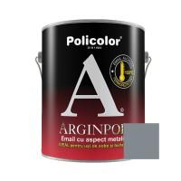 Vopsea alchidica pentru usi de sobe si burlane, Policolor Arginpol, interior / exterior, argintiu / aluminiu E5061, 2.5 L