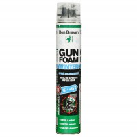 Spuma poliuretanica, aplicare cu pistol, varianta de iarna, Den Braven Gun Foam, 750 ml