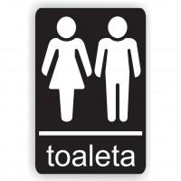 Indicator toaleta Creative sign, pvc, forma dreptunghiulara, 14 x 10 cm
