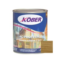 Lac / lazura subtire 2 in 1 pentru lemn, Kober, stejar inchis, interior / exterior, 0.75 L